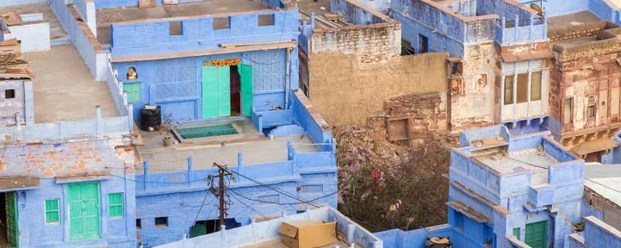Blauen Stadt in Indien