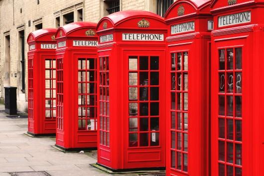 cabinas rojas en Notting Hill