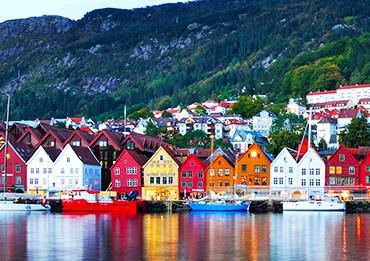 Bergen casitas de colores