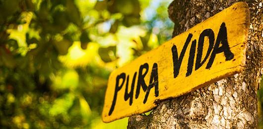 cartel pura vida en Costa Rica