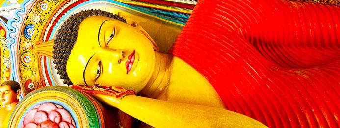 buda tumbado en SriLanka