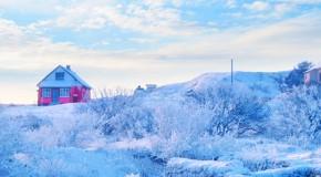 pueblo nevado en laponia
