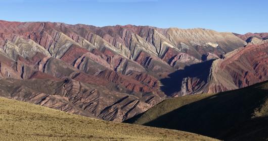 Colourful valley of Quebrada de Humahuaca de 4 colores