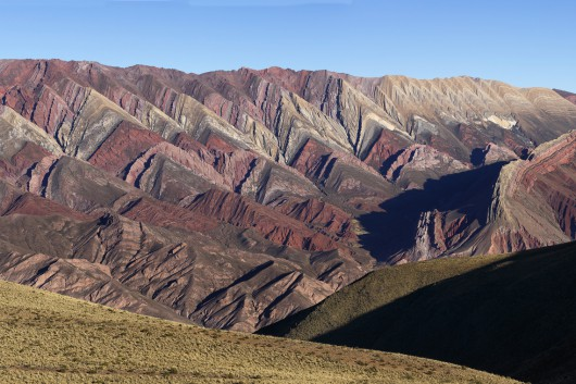 Colourful valley of Quebrada de Humahuaca de 4 colores