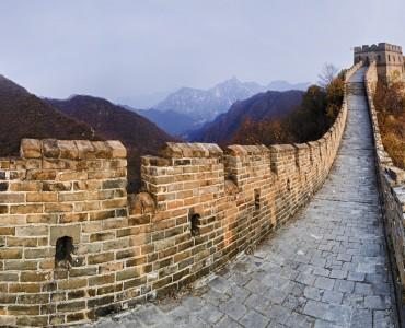 muralla china con visión panorámica