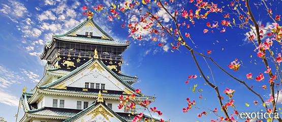 castillo osaka japón