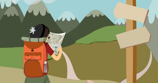 viajar solo ilustración