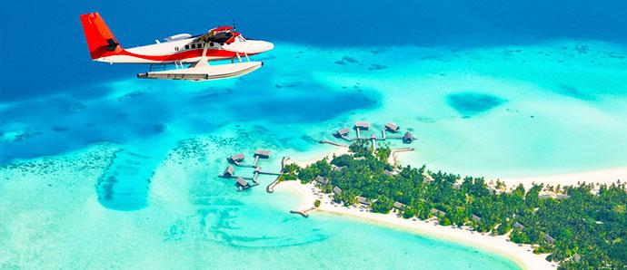 Viajar en hidroavión en Maldivas