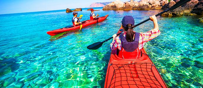 hacer kayak en Maldivas