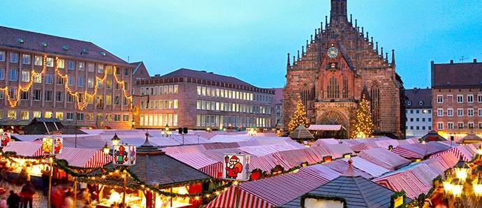 mercadillos navideños en Núremberg, Alemania