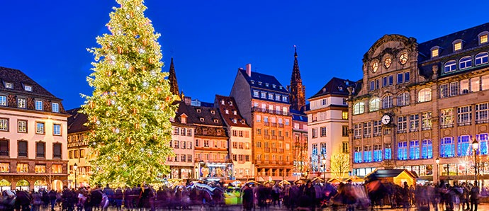 mercadillo de navidad en estrasburgo