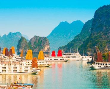 barcos típicos de Vietnam