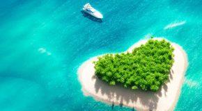 isla romántica para San Valentín