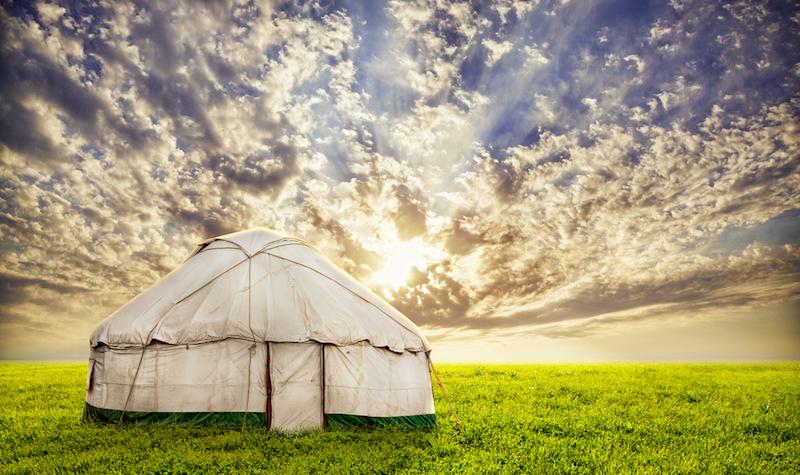 Yurta casa de Mongolia