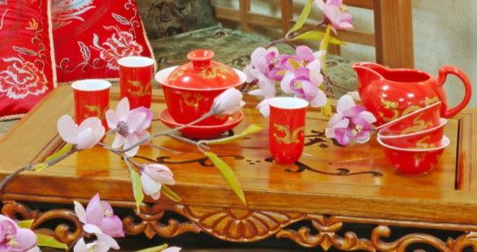 What is the Chinese tea ceremony and what does it consist?