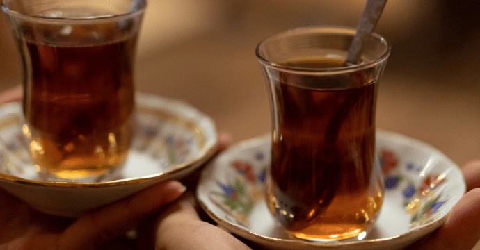 Turkish tea ceremony