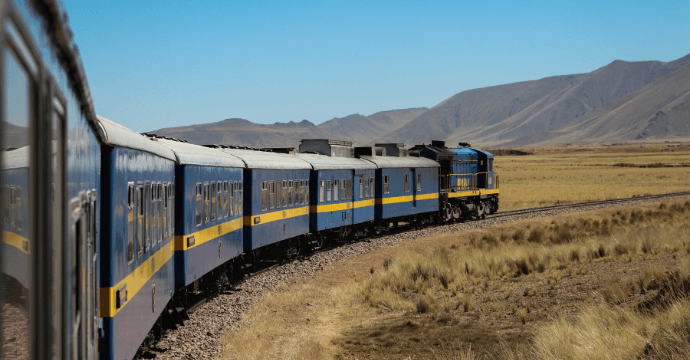 Lake Titicaca Railway, Peru.  Peruvian train adventure.