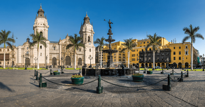 The Plaza de Armas is unmissable on a trip to Lima.