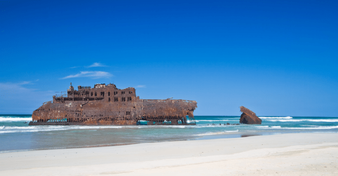 A shipwreck in Cape Verde