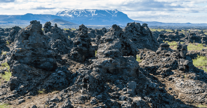 Mance Rayder's army camp in  Dimmuborgir, Iceland.  Game of Thrones filming locations in Iceland