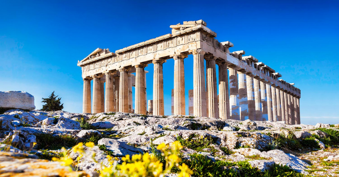 Acropolis of Athens - ruins in Greece
