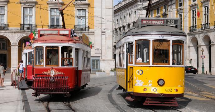 Lisbon vintage trams