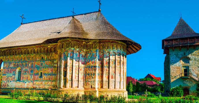 Romania Painted Church