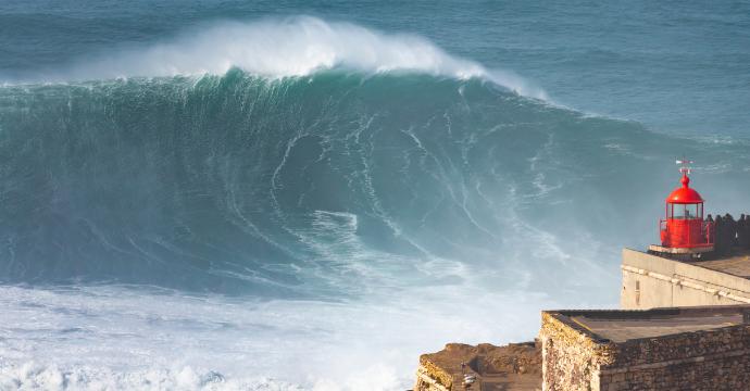 big wave surfing Nazare