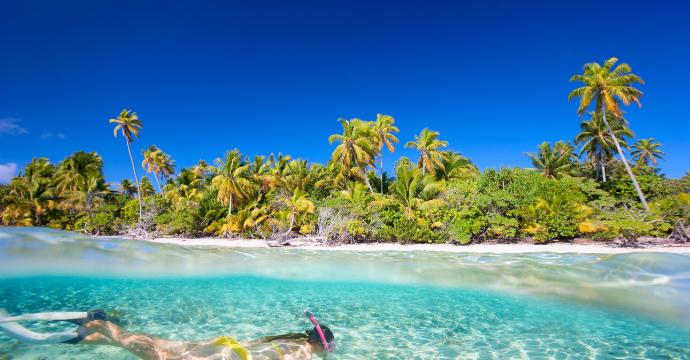 swimming in the Maldives