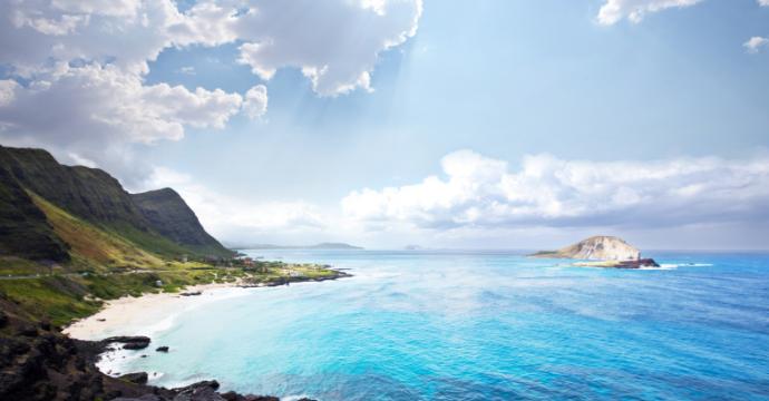 Oahu mountains and beach