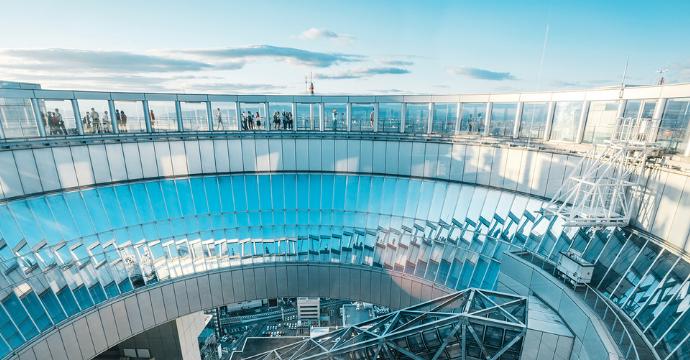 Umeda Sky Building Floating Observatory: sights in Japan